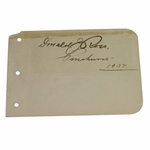 Lot 24 - Hall of Fame Course Architect Donald Ross(D-1948) Vintage Signed Album Page W/Pinehurst Notation
