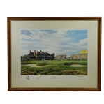 Lot 24 - Seve Ballesteros Signed 1988 'Triumph at 18th' Open Championship Art Print JSA ALOA