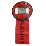 Lot 25 - 1938 Masters Tournament Press Badge with Ribbon - Picard Winner
