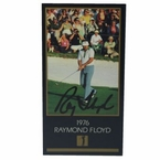 Lot 25 - Ray Floyd Signed GSV 1976 Golf Card - RARELY Seen Autographed JSA COA