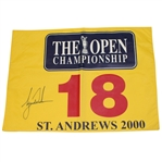 Lot 26 - Tiger Woods Signed 2000 Open Championship at St. Andrews Flag-Completes Career Grand Slam- JSA ALOA
