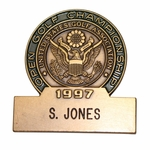 Lot 26 - 1997 US Open at Congressional Defending Champion's Contestant Badge