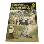 Lot 27 - 1972 Open Championship Program Signed by Lee Trevino - Muirfield JSA COA