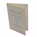 Lot 28 - 1955 Reception Dinner Menu for British Ryder Cup Team at Atlantic City CC