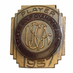 Lot 28 - 1957 US Open at Inverness Contestant Badge - Dick Mayer Winner