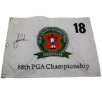 Lot 29 - Tiger Woods Signed Mint 2006 PGA Champ. Embroidered Flag JSA #X55837-12th Major