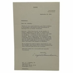 Lot 29 - 1964 Dated TLS Quarto Dwight Eisenhower w/Golf Content-Bold Signature-JSA COA