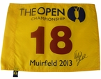 Lot 30 - Phil Mickelson Signed 2013 Open Flag - Muirfield JSA #Y04161