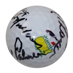Lot 30 - Big Three Signed Masters Logo Golf Ball - Palmer, Nicklaus, & Player! JSA #Y79128