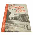 Lot 31 - 1945 Canadian PGA Open Championship Program Signed by Byron Nelson Part of 11 Straight Wins Win
