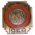 Lot 31 - 1959 US Open at Winged Foot Contestant Badge - Billy Casper Winner