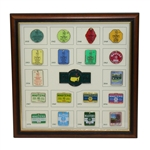 Lot 32 - Limited Edition Masters 2016 Commemorative Pin Set - Vintage Masters Badge Theme-Limited to 350 Issued #11/350