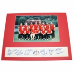 Lot 33 - 1997 Ryder Cup Team Signed Official Team Photo with Valderrama Owner