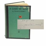 Lot 33 - Francis Ouimet Signed 'A Game of Golf' Book - Long Inscription JSA ALOA