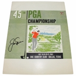 Lot 34 - 1963 PGA Championship Program Signed by Winner Jack Nicklaus-Dallas Athletic Club
