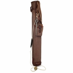 Lot 34 - Vintage Ocobo Canvas and Leather Golf Bag with Training Device