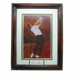 "Lot 34 - Tom Watson Original Bart Forbes Oil Painting ""Golf's Greatest Card Set""- Signed Matting"