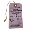 Lot 34 - 62nd USGA Open Championship Ticket - Oakmont - 6/16/1962 - Jack Nicklaus First Career Win!