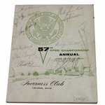 Lot 35 - 1957 US Open at Inverness Club Program Multi-Signed by Middlecoff, Palmer, Shute, and others