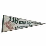 Lot 35 - 2016 Ltd Ed US Open at Oakmont Commemorative Wooden Pennant - Only 12 Made