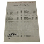 Lot 36 -  Jack Nicklaus Signed 1963 Masters Sunday Pairing Sheet - 1st Victory JSA COA