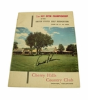 Lot 36 - 1960 US Open Program Signed by Arnold Palmer - The Charge @ Cherry Hills JSA COA