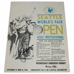 Lot 36 - 1962 Seattle Open Program Signed by Jack Nicklaus-2nd Career Win-Hard to Find!