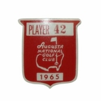Lot 36 - Jack Fleck's 1965 Masters Contestant Pin - Jack Nicklaus' 2nd Masters Victory