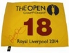 Lot 37 - Rory McIlroy Signed 2014 Open Championship Flag - Full Signature