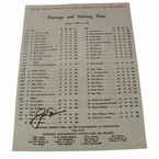 Lot 37 - Jack Nicklaus Signed 1965 Masters Sunday Pairing Sheet - 2nd Victory JSA COA