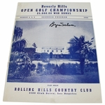Lot 37 - 1944 Beverly Hills Open Program Signed by Winner Byron Nelson-Montague, Zaharias