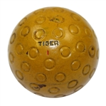 Lot 37 - U.S. Royal Tiger Yellow Golf Ball - Circa 1930's