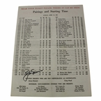 Lot 38 - Jack Nicklaus Signed 1966 Masters Sunday Pairing Sheet - 3rd Victory JSA COA