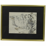 Lot 38 - Fred Conway Original Marker Sketch of Arnold Palmer - Signed by Conway