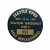 Lot 39 - 1962 Seattle Open Golf Invitational Grounds Badge - Nicklaus 2nd Career Victory Hard To FIND!