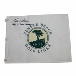 Lot 39 - Tom Watson Signed Pebble Beach Embroidered Flag-1992 US Open Champion Inscription