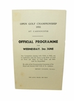 Lot 4 - 1931 Open Championship Official Program Insert Page- First At Carnoustie - Tommy Armour Winner