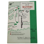 Lot 40 - 1960 Masters Spectator Guide - Arnold Palmer's 2nd of 4 Augusta Wins-Top Condition!