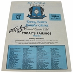Lot 41 - 1977 Memphis Classic Pairing Sheet From Al Geiberger's Record 59 Round-Multi Signed