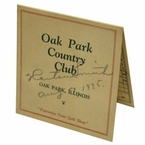 Lot 41 - Horton Smith (Masters Champ 1934 & 36) Signed and Dated 1935 Oak Park Scorecard