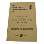 Lot 42 - 1952 British Open Program - Bobby Locke Winner - Royal Lytham & St. Annes