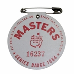 Lot 42 - 1964 Masters Tournament Badge - #16237 - Palmer Victory