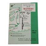 Lot 42 - 1962 Masters Spectator Guide - Arnold Palmer's 3rd of 4 Wins at Augusta-Superior Condition!