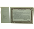 Lot 42 - 1925 Pine Valley Bond Certificate with Stub - $1,000.00