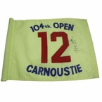 Lot 43 - Tom Watson Signed 1975 Carnoustie Flag - 12th Hole JSA COA