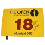Lot 44 - Phil Mickelson Signed 2013 Open Championship at Muirfield Flag PSA/DNA #Y04846