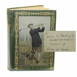 Lot 45 - Jerome Travers 'Travers Golf Book' Signed to Warren G. Harding