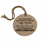 Lot 46 - 1968 Open Championship Complimentary Badge - Carnoustie - #466 - Gary Player Winner