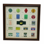 Lot 46 - Limited Edition 2016 Masters Commemorative Pin Set- #20/250 Framed