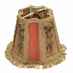 Lot 47 - Vintage Lamp Shade W/Depictions of Bobby Jones & 1926 Dating-Year of U.S. & Brit Open Wins